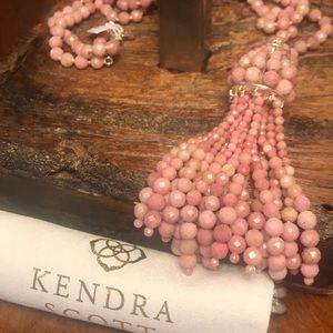 NWT Kendra Scott Sylvia Necklace in Pink Rhodonite